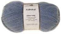 Пряжа Admiral, 100 гр., цвет 4653М джинс меланжевый