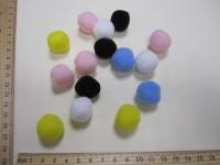 Набор помпонов из полипропилена, разноцветные, d - 20 мм., 15 шт.