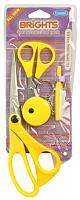 Ножницы ярко-желтые в наборе со швейными аксессуарами