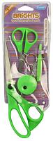 Ножницы ярко-зеленые в наборе со швейными аксессуарами