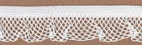 Рюш эластичный PEGA, цвет белый, 17 мм