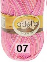 Adelia «MIA PRINT» №  07 св.оранжевый-розовый