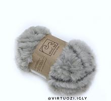 Пряжа Fancy fur (Фанси фе), цвет 9993 серо-коричневый меланж