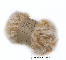 Пряжа Fancy fur (Фанси фе), цвет 9992 бежевый меланж