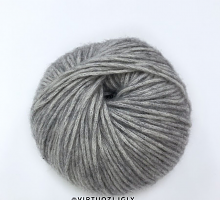 Коттон-мерино-75-122 -серый меланж