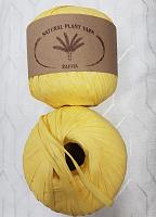 Пряжа Рафия (Raffia), цвет 104 желтый