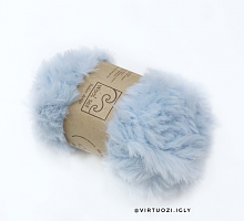 Пряжа Fancy fur (Фанси фе), цвет 60 - голубой