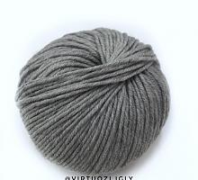 Долли 125 (Dolly 125) Laines Du Nord 444 меланжевый серый