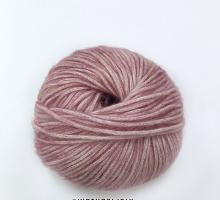 Коттон-мерино-75-119 розовый меланж