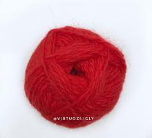 Пряжа Рэббит ангора (Rabbit Angora), цвет 88 красный мак
