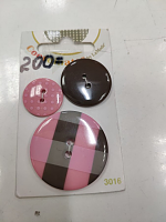 Набор пуговиц COORDINATES II 3016 розовый
