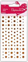 Декоративные клеевые стразы 104 шт золотой