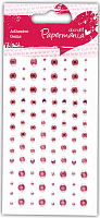 Декоративные клеевые стразы 104 шт бледно-розовый