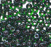 Бисер прозрачный с цветной линией 51128