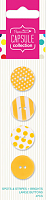 Набор пуговиц Spots & Stripes Brights - YELLOW 4 шт, желтый