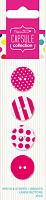 Набор пуговиц Spots & Stripes Brights - PINK 4 шт, розовый