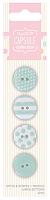 Набор пуговиц Spots & Stripes Pastels 4 шт, зеленый