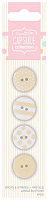 Набор пуговиц Spots & Stripes Pastels 4 шт, желтый