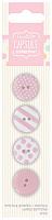 Набор пуговиц Spots & Stripes Pastels 4 шт, розовый