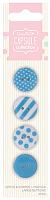 Набор пуговиц Spots & Stripes Pastels 4 шт, синий