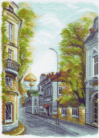 "Рисунок на канве 37х49см арт.1509 ""Гагаринский переулок"""
