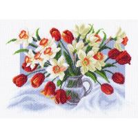 "Рисунок на канве 37х49см арт.1226 ""Весенние цветы"""