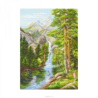 """Рисунок на канве 37х49см арт.1526 """"Горная свежесть"""""""