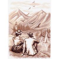 "Рисунок на канве 37х49см арт.1458 ""Воспоминание"""