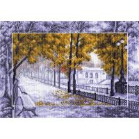 """Рисунок на канве 37х49см арт.1489 """"Осень в парке"""""""