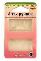 Иглы ручные для вышивания с закругленны кончиком № 28, 5 шт