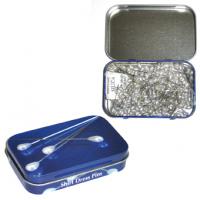 Булавки декоративные с жемчужными головками в жестяной коробочке, 200 шт