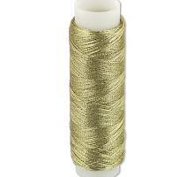 Нитки металлизированные светлое золото, 100 м.
