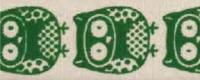 """Лента хлопковая на картонной катушке """"Совы"""" цвет зеленый, 5 м"""