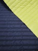 Стеганная ткань с подкладкой, цвет темно-синий/желтый