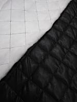 Кожа исскуственная стеганная, цвет черный