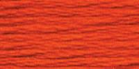 """НИТКИ МУЛИНЕ """"Gamma"""" ДЛЯ ВЫШИВАНИЯ, №0011 оранжево-красный , х/б 8 м"""