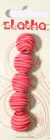 Бусины из полимерной глины, цвет красный, 14 мм, 5 шт.