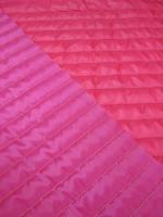 Стеганная ткань с подкладкой, цвет фуксия/розовый