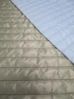 Стеганная ткань с подкладкой, цвет серый/голубой