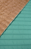 Стеганная ткань с подкладкой, цвет весенняя зелень/темно-бежевый