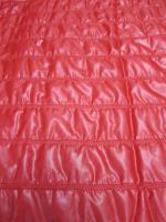 Стеганная ткань, цвет красный