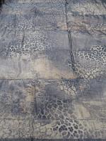 Стеганная ткань с органзой, цвет леопард