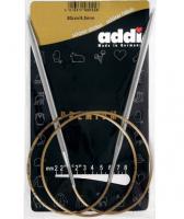 Спицы металлические круговые супергладкие 105-7, длина лески 80 см, addi