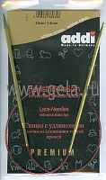 Спицы, круговые, с удлиненным кончиком, позолоченные, №3,5, 60 см
