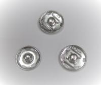 Кнопка пришивная металлическая серебро, 16 мм