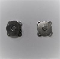 Кнопка магнитная пришивная никель, 15х6 мм