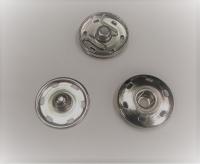 Кнопка пришивная металлическая серебро, 25 мм