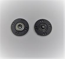 Кнопка пришивная пластикова черная, 18 мм