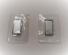 Магнитная кнопка скрытая, на прозрачной силиконовой основе, 30х40 мм