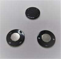 Кнопка магнитная пришивная черная, 28 мм